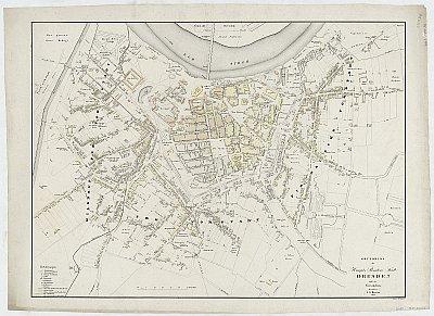 Stadtplan zum Adressbuch Dresden 1833