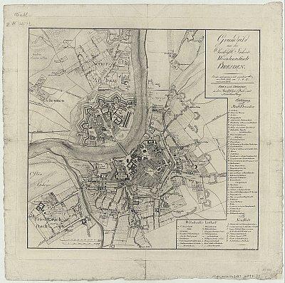 Stadtplan zum Adressbuch Dresden 1804