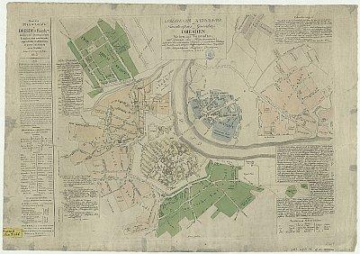 Stadtplan zum Adressbuch Dresden 1812