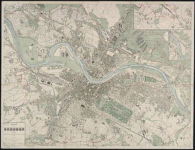 Stadtplan zum Adressbuch Kemnitz 1917