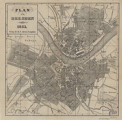 Stadtplan zum Adressbuch Dresden 1853