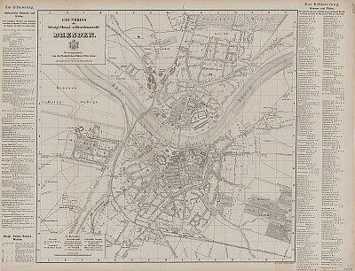 Stadtplan zum Adressbuch Dresden 1859