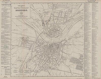 Stadtplan zum Adressbuch Dresden 1861