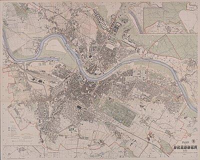 Stadtplan zum Adressbuch Blasewitz 1905