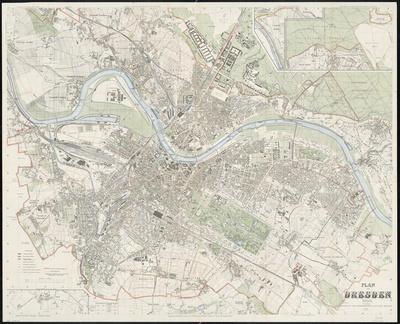 Stadtplan zum Adressbuch Dresden 1909