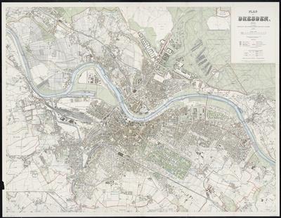Stadtplan zum Adressbuch Dresden 1911