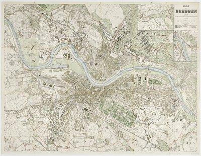 Stadtplan zum Adressbuch Kemnitz 1915