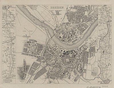Stadtplan zum Adressbuch Dresden 1855