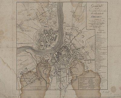 Stadtplan zum Adressbuch Dresden 1809