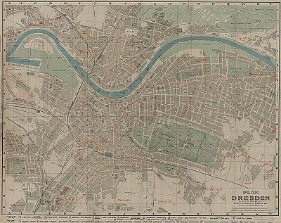 Stadtplan zum Adressbuch Kemnitz 1916