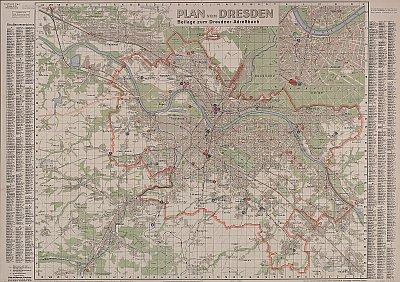 Stadtplan zum Adressbuch Dresden 1943-44
