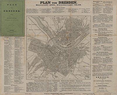 Stadtplan zum Adressbuch Dresden 1851