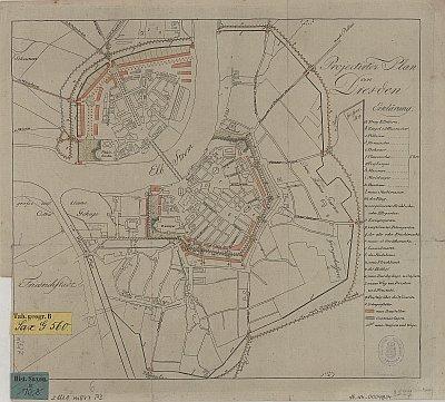 Stadtplan zum Adressbuch Dresden 1810