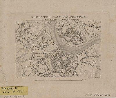 Stadtplan zum Adressbuch Dresden 1829