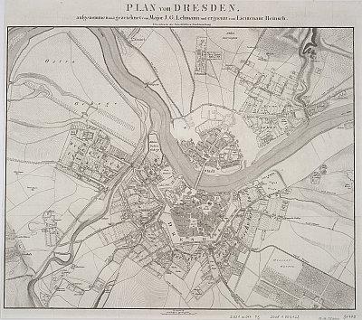 Stadtplan zum Adressbuch Dresden 1820