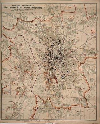 Stadtplan zum Adressbuch Leipzig 1943