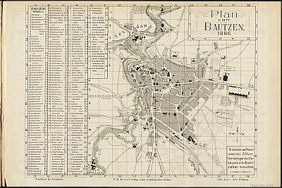 Stadtplan zum Adressbuch Bautzen 1886