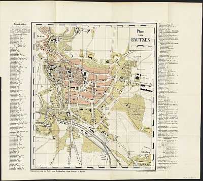 Stadtplan zum Adressbuch Bautzen 1887
