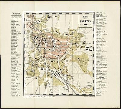 Stadtplan zum Adressbuch Bautzen 1888
