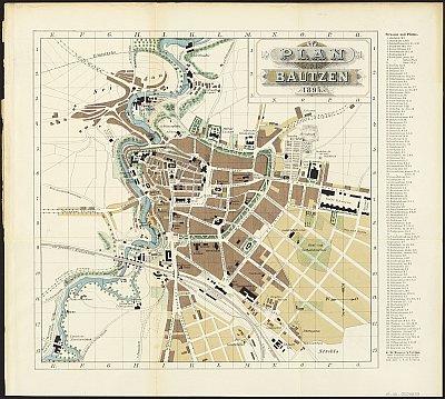 Stadtplan zum Adressbuch Bautzen 1895