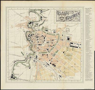Stadtplan zum Adressbuch Bautzen 1899