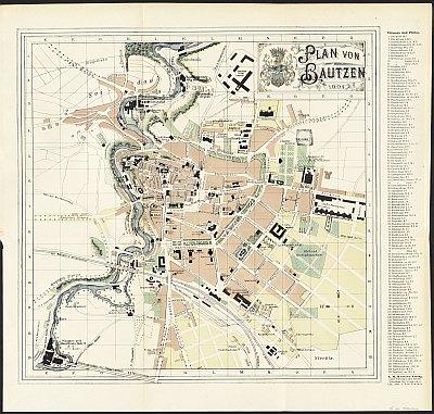 Stadtplan zum Adressbuch Bautzen 1904
