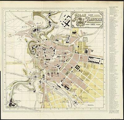 Stadtplan zum Adressbuch Bautzen 1905