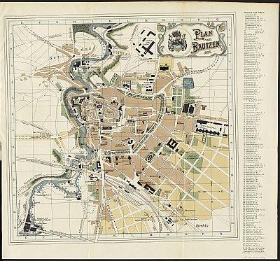 Stadtplan zum Adressbuch Bautzen 1906-07