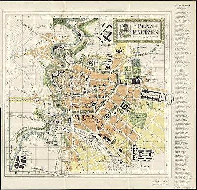 Stadtplan zum Adressbuch Bautzen 1910-11