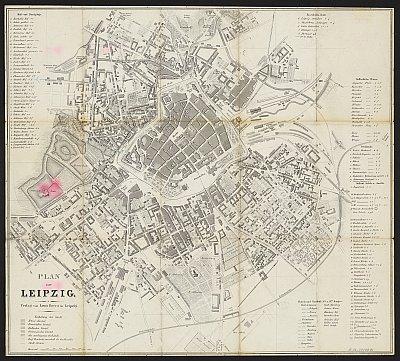 Stadtplan zum Adressbuch Leipzig 1870