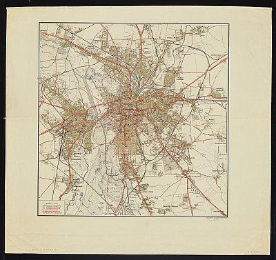 Stadtplan zum Adressbuch Leipzig 1920