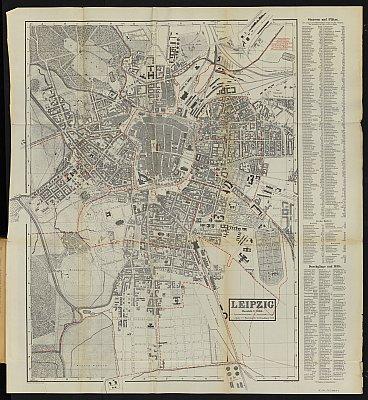 Stadtplan zum Adressbuch Leipzig 1886
