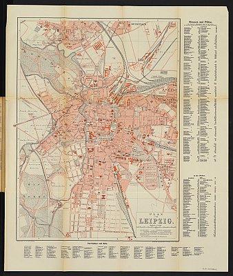 Stadtplan zum Adressbuch Leipzig 1887