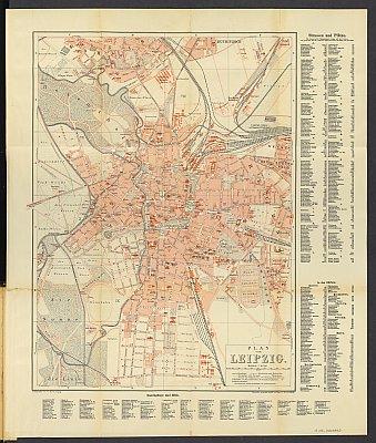 Stadtplan zum Adressbuch Leipzig 1888