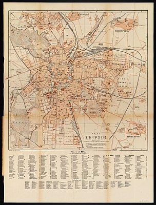 Stadtplan zum Adressbuch Leipzig 1889