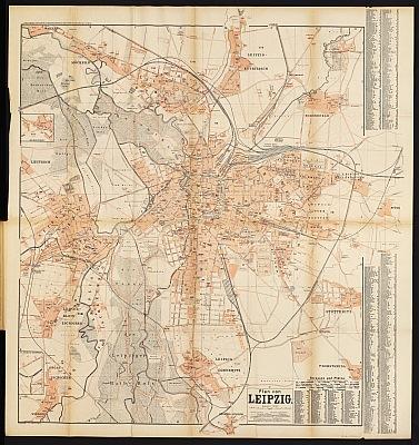 Stadtplan zum Adressbuch Leipzig 1892