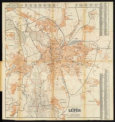Stadtplan zum Adressbuch Leipzig 1893