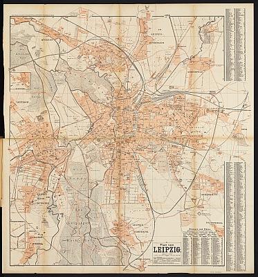 Stadtplan zum Adressbuch Leipzig 1898