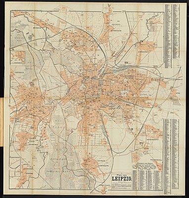 Stadtplan zum Adressbuch Leipzig 1899