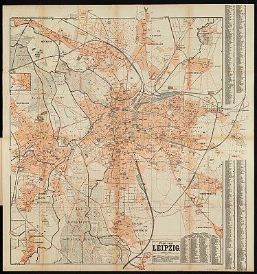 Stadtplan zum Adressbuch Leipzig 1904