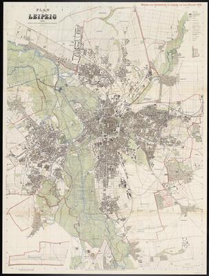 Stadtplan zum Adressbuch Leipzig 1905