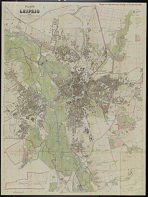 Stadtplan zum Adressbuch Leipzig 1906