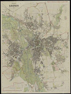Stadtplan zum Adressbuch Leipzig 1907