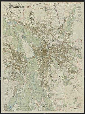 Stadtplan zum Adressbuch Leipzig 1930
