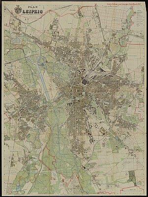 Stadtplan zum Adressbuch Leipzig 1928