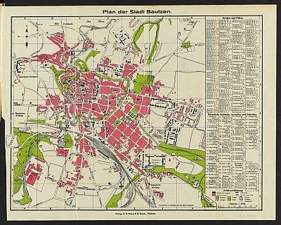 Stadtplan zum Adressbuch Bautzen 1935