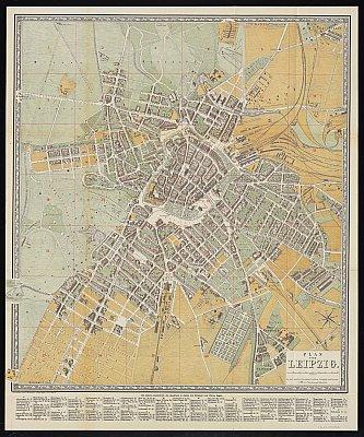 Stadtplan zum Adressbuch Leipzig 1880