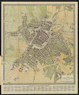 Stadtplan zum Adressbuch Leipzig 1882