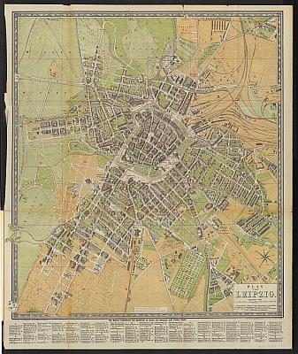 Stadtplan zum Adressbuch Leipzig 1884