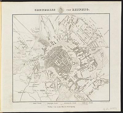 Stadtplan zum Adressbuch Leipzig 1856